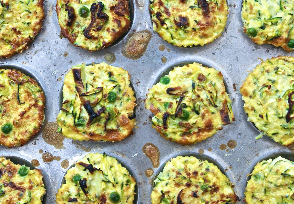 Savoury frittata muffins with spring greens and cheddar ...