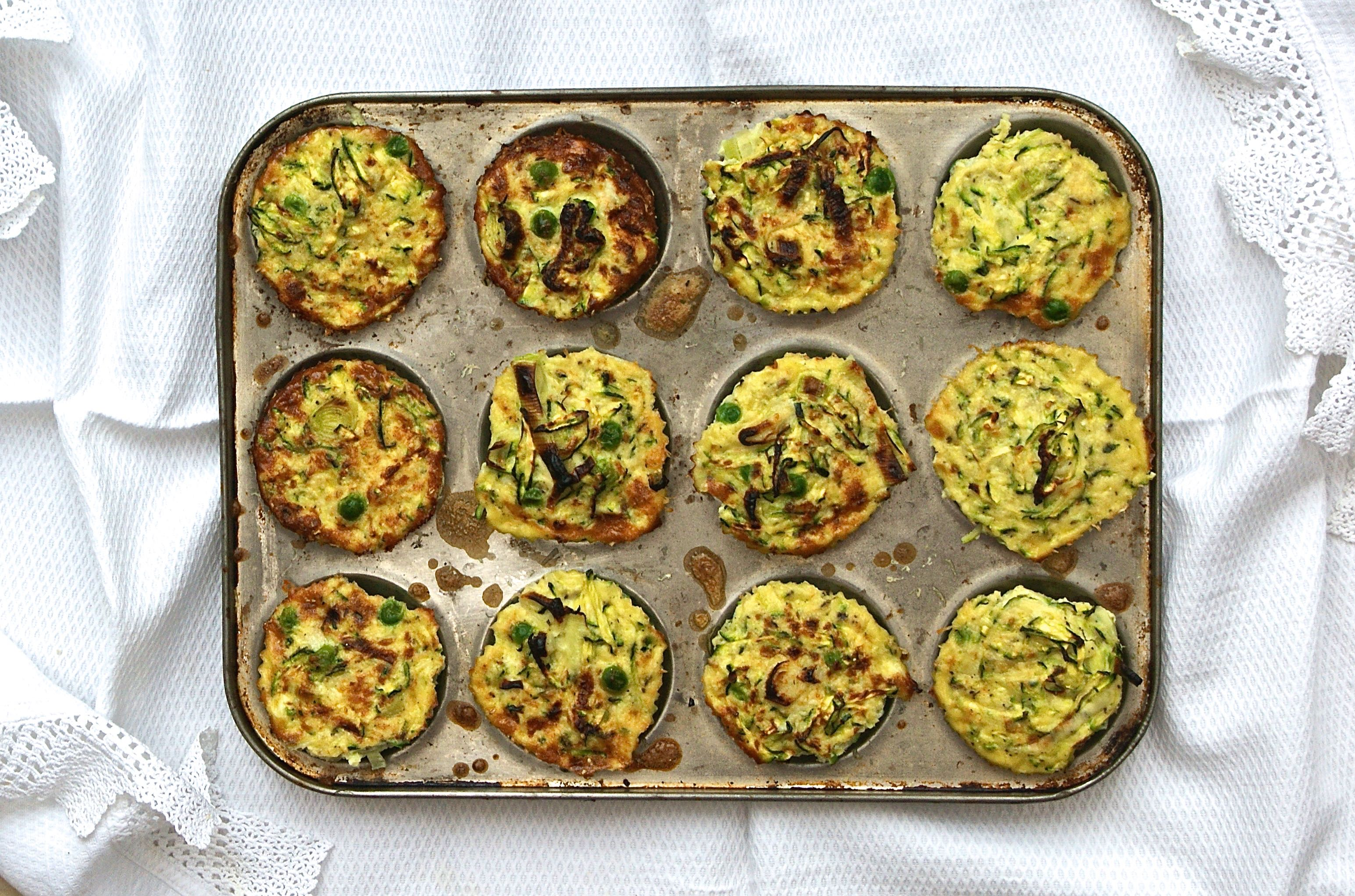 Savoury frittata muffins with spring greens and cheddar | The Cashew ...