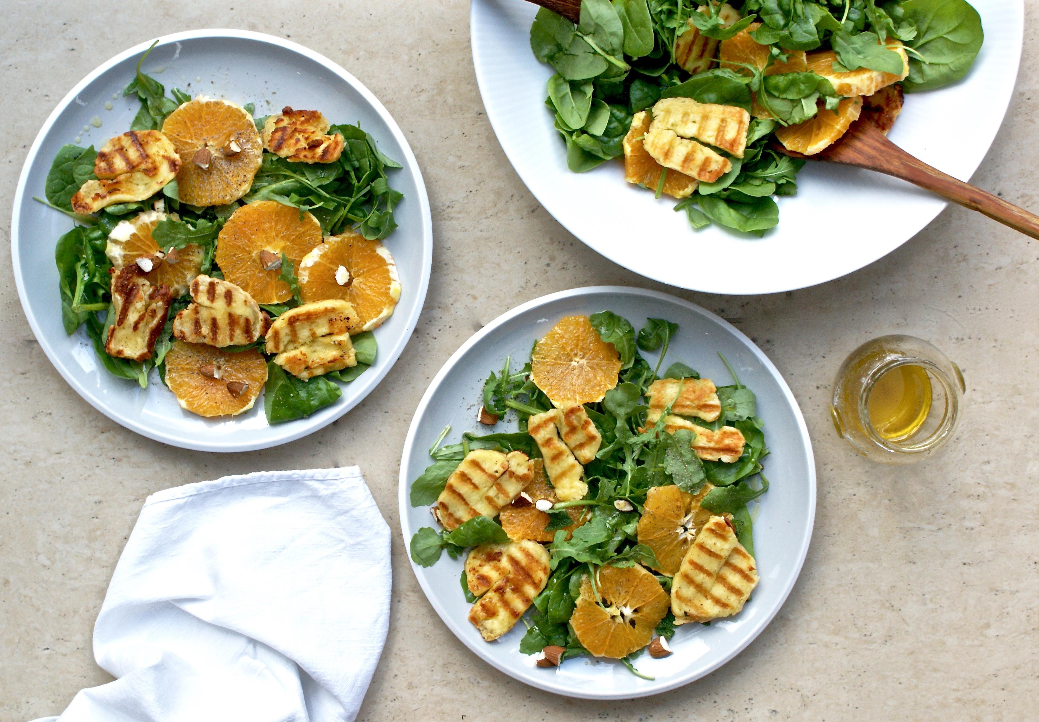 Orange, halloumi and almond salad – The Cashew Tree