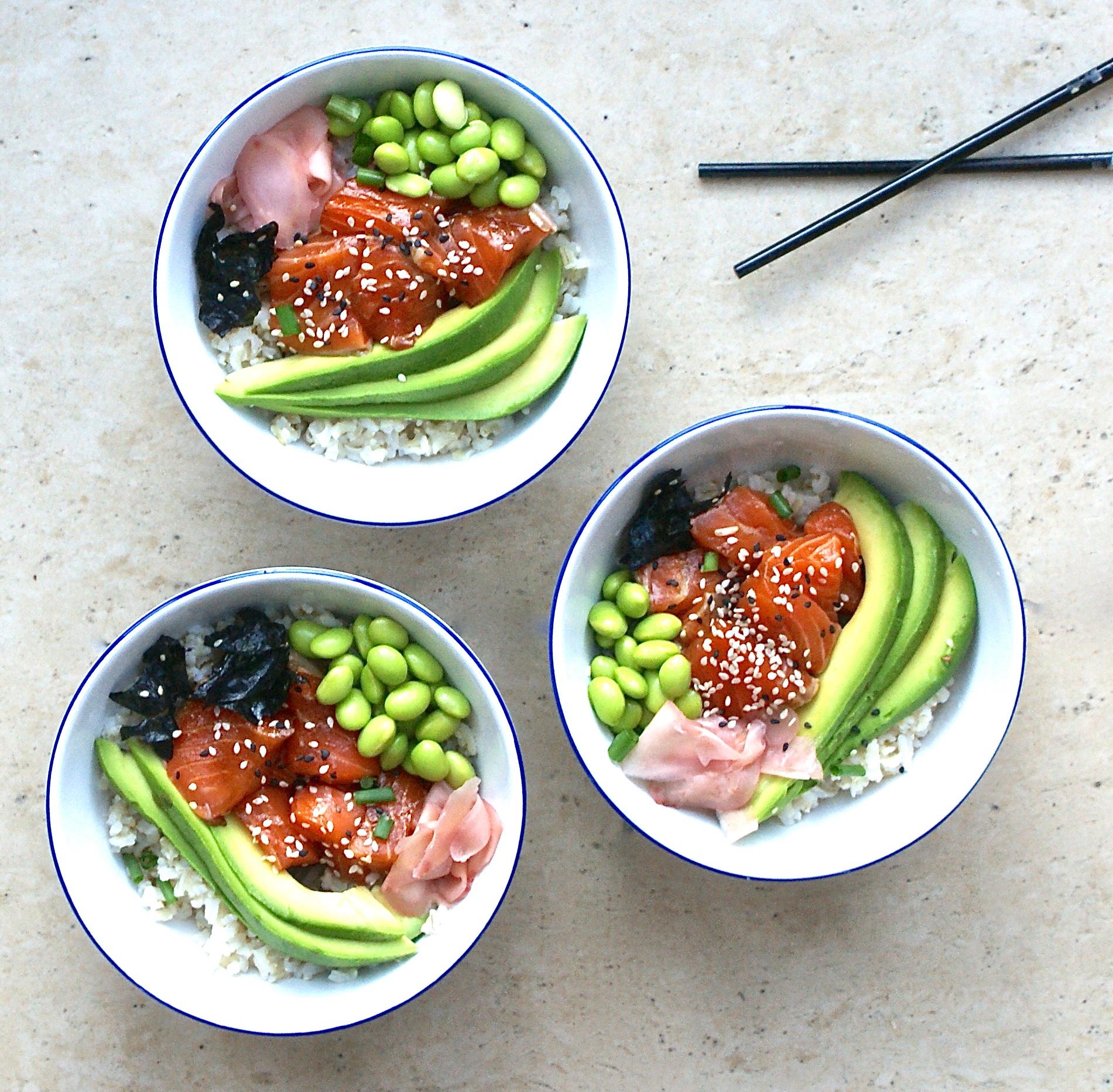 sushi-bowl-brown-rice-healthy-gluten-free-salmon-sashimi-edamame ...