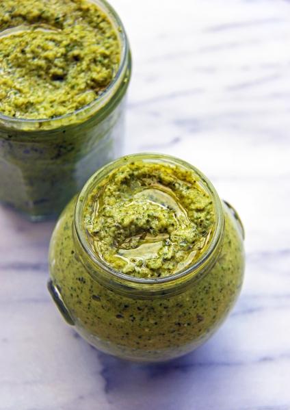 broccoli basil pesto vegan healthy dairy free gluten free