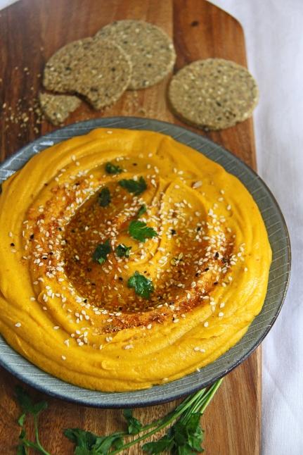 Sweet potato, ginger, coconut hummus dip vegan gluten dairy free 3