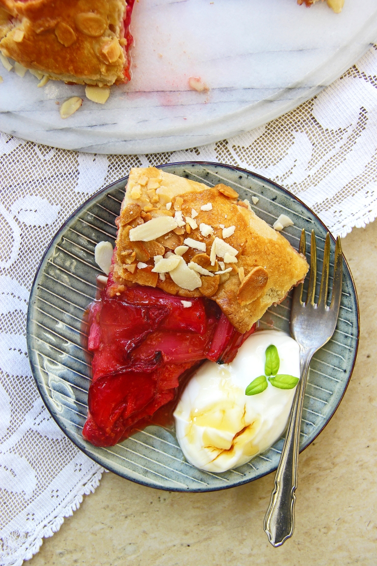Rhubarb and strawberry galette gluten free pastry tart pie 6