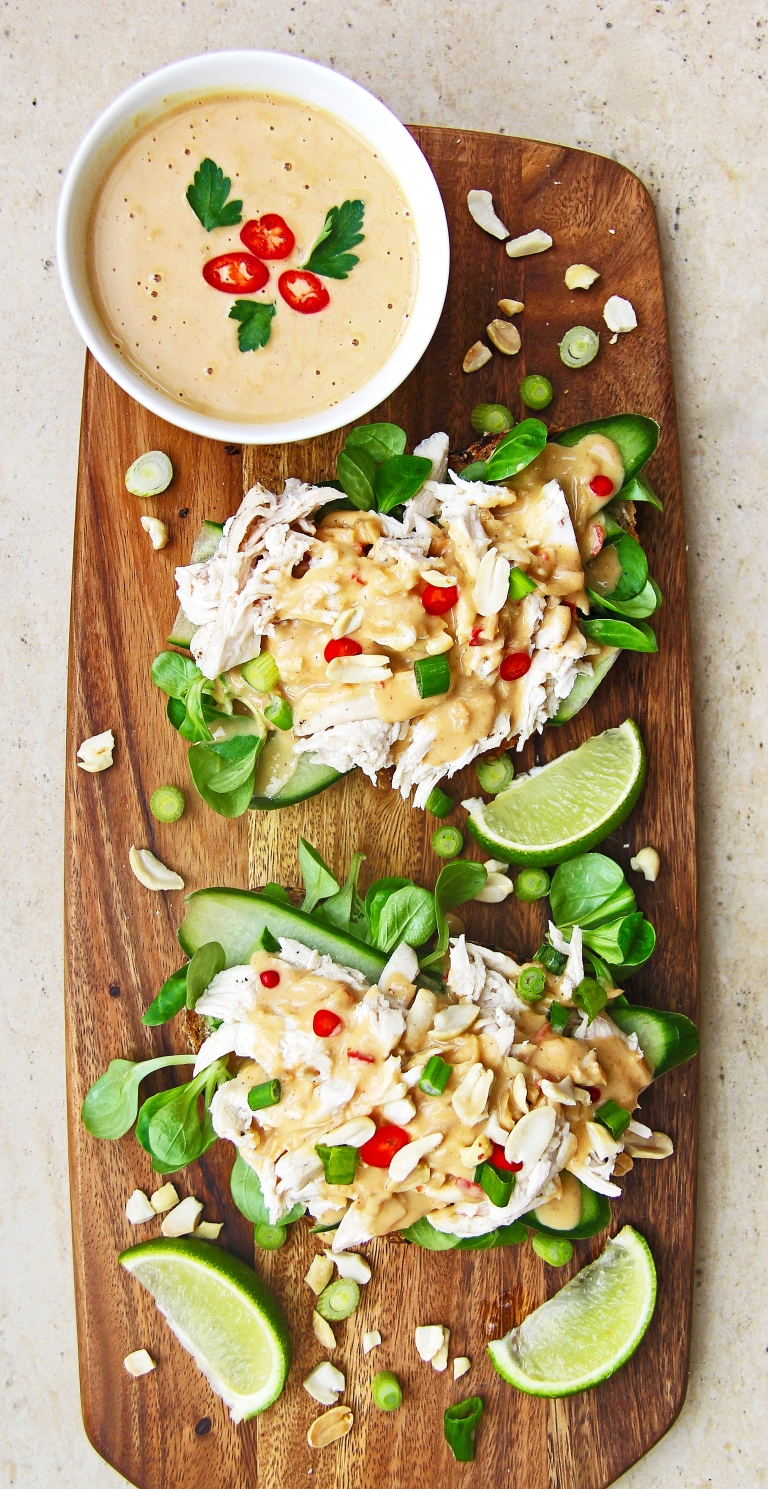 shredded-chicken-satay-open-sandwich-with-spicy-peanut-sauce-shaved-cucumber-and-chilli-2