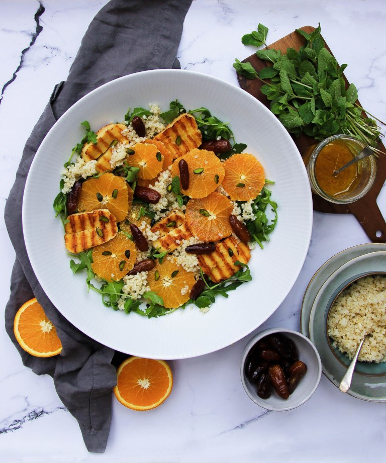 Orange, date halloumi salad LR