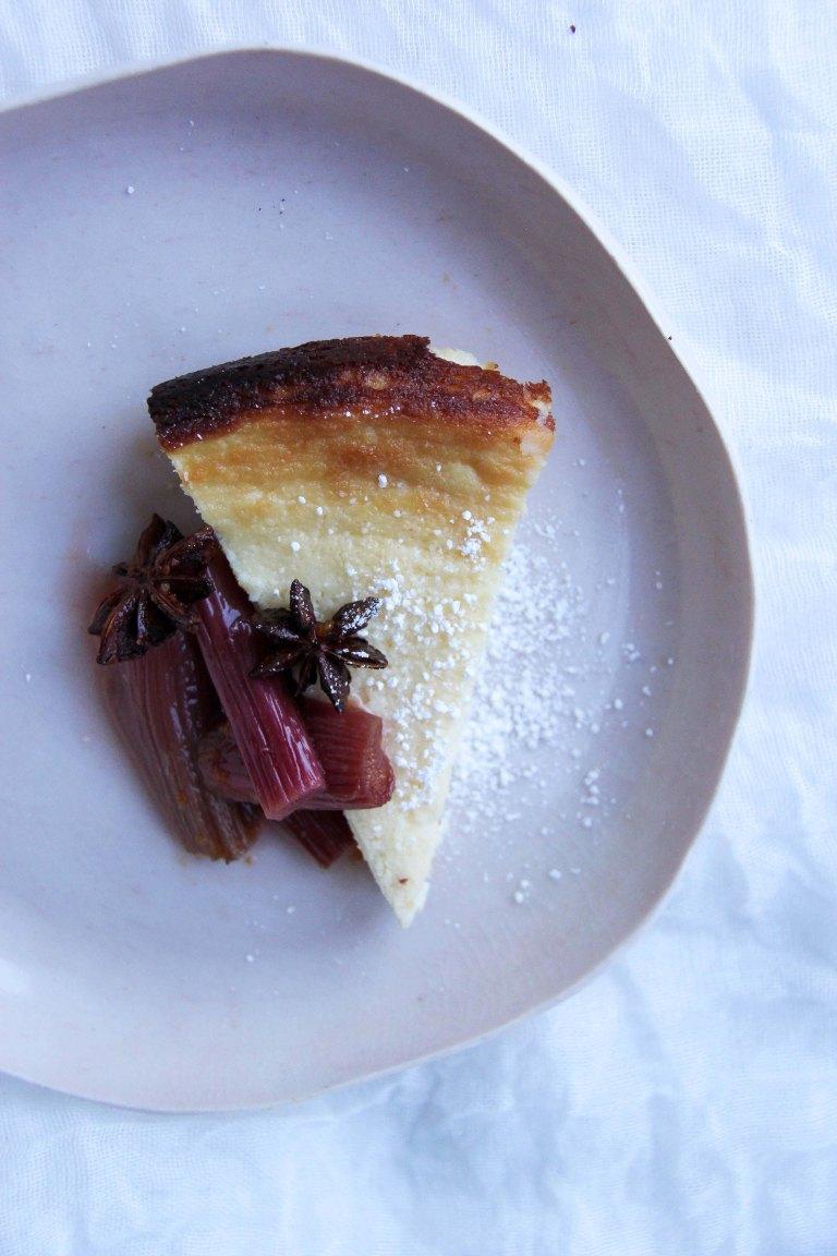 Cassola baked ricotta cheesecake rhubarb 1
