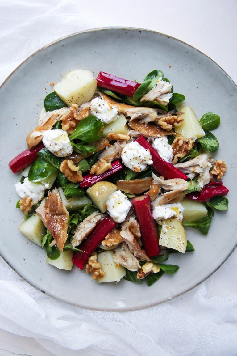 Mackerel, rhubarb and potato salad 3