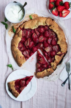 Strawberry Galette with basil creme fraiche-5